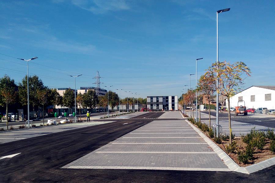 finalizan las obras del parking de las oficinas centrales